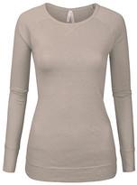 SBS Fashion Fashion Women's Tee Shirts Oatmeal - Oatmeal Criss-Cross Long-Sleeve Tunic - Women