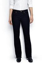 Classic Women's Tall Mid Rise Boot Cut Jeans-Dark Indigo Wash