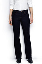 Lands' End Women's Petite Mid Rise Boot Cut Jeans-Dark Indigo Wash
