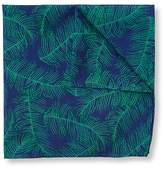 Jeff Banks Feather Print Pocket Square