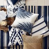 Tropez Outdoor Printed Saint Ikat Pillow, Navy