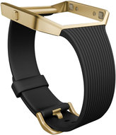 Fitbit Women's Blaze Gold Tone Case and Black Rubber Smart Watch Strap FB159ABGBK