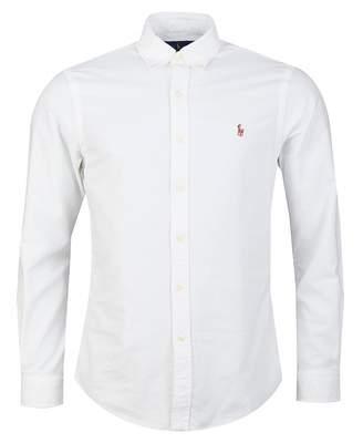 Polo Ralph Lauren Slim Fit Long Sleeved Oxford Shirt Colour: WHITE, Si