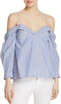 Bardot Paloma Off-the-Shoulder Stripe Top - 100% Exclusive