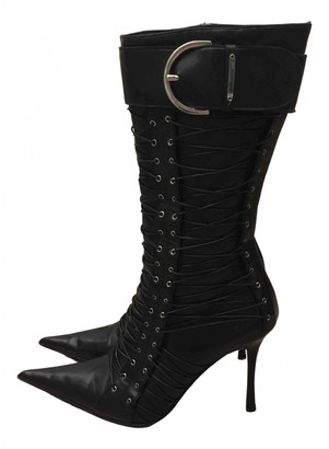 Gianmarco Lorenzi Black Leather Boots
