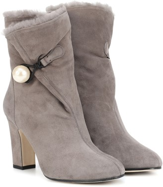 Jimmy Choo Bethanie 85 suede ankle boots