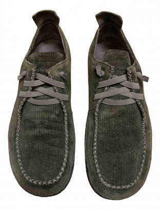 Patagonia Green Suede Flats