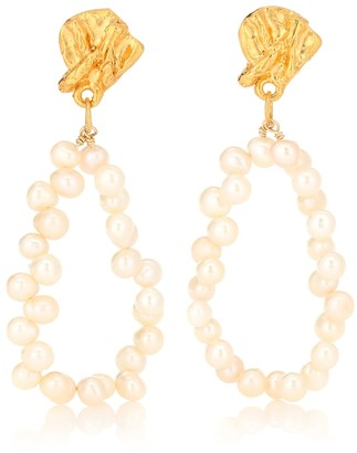 Alighieri Apollos Story pearl earrings