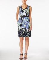 Nine West Sleeveless Printed Sheath Dress