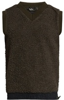 Kolor V-neck Sleeveless Fleece Top