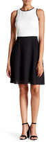 Maggy London Colorblock Lasercut Dress