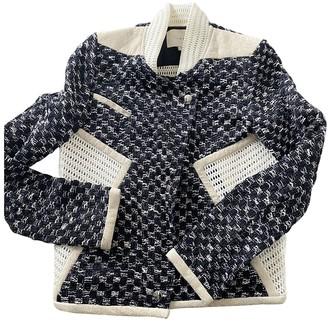 IRO Blue Tweed Leather jackets