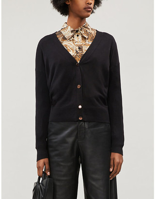 Ted Baker Collarless stretch-knit cardigan