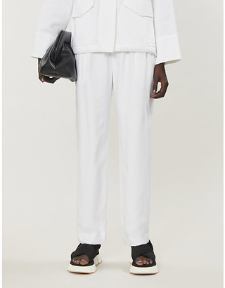 Vince High-waisted twill trousers