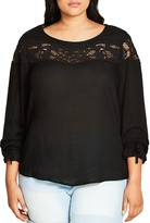 City Chic Embroidered Lace Top