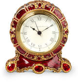 Jay Strongwater CRYSTAL SCROLL CLOCK
