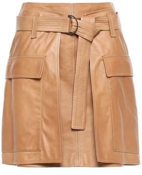 Brunello Cucinelli Belted Leather Mini Skirt
