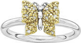 JCPenney FINE JEWELRY Personally Stackable Diamond-Accent Two-Tone Butterfly Ring