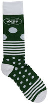 For Bare Feet New York Jets Dots and Stripes 538 Socks