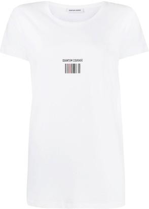 Quantum Courage barcode T-shirt