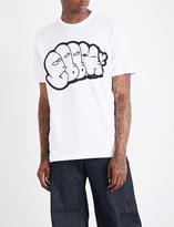 Junya Watanabe Graphic-print cotton-jersey T-shirt