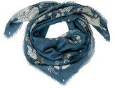 Alexander McQueen Silk & Wool Printed Scarf