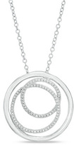 Zales Diamond Accent Three Circle Pendant in Sterling Silver