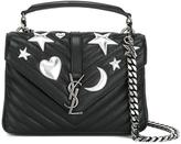 Saint Laurent medium 'Monogram Collège' satchel bag - women - Calf Leather/Metal (Other) - One Size