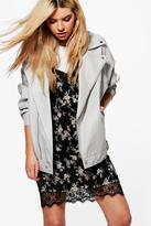 boohoo Boutique Isabella Faux Leather Oversized Biker