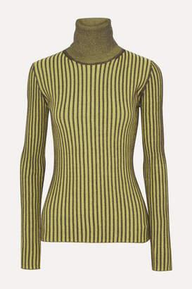 McQ Ribbed Cotton Turtleneck Sweater - Bright yellow