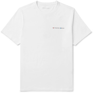 Pop Trading Company + Delta Logo-Print Cotton-Jersey T-Shirt