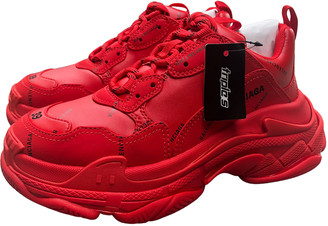 Balenciaga Triple S Red Rubber Trainers