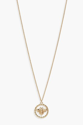 boohoo Bumble Bee Ring Detail Necklace