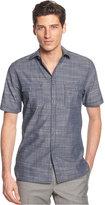 Alfani Short Sleeve Warren Textured Shirt, Only at Macy's