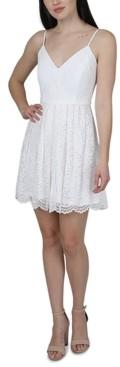 Jump Juniors' Lace Fit & Flare Dress