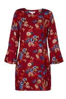 Yumi Butterfly And Flower Print Tunic Dress