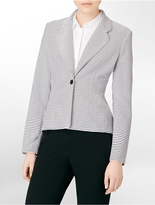 Calvin Klein Striped Single Button Closure Blazer