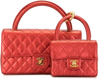 Chanel Pre Owned 1992 Two-In-One Diamond Quilted Tote Set