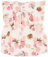 Billieblush Floral and Tiger Print Dress