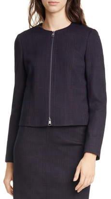 BOSS Javidar Textured Plaid Short Jacket