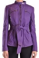 Peuterey Women's Purple Leather Coat.