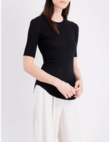 Joseph Ribbed cotton and cashmere-blend T-shirt