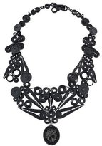 Bottega Veneta Nero Cameo Filigrane Necklace