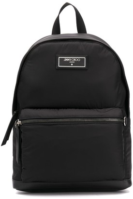 Jimmy Choo Wilmer leather-trimmed backpack