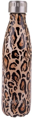 Oasis Stainless Steel Double Wall Insulated Drink Bottle 500ml - Leopard