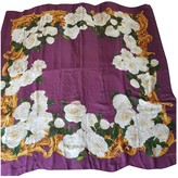 Chanel Purple Silk Scarves