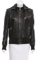 Balmain Hooded Leather Jacket