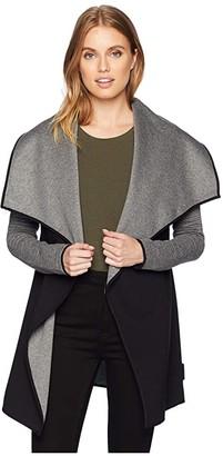 Michi Dusk Wrap Jacket (Grey/Black) Women's Coat