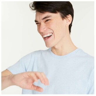 Joe Fresh Men's Short Sleeve Mix Knit Tee, Light Blue Mix (Size XXL)