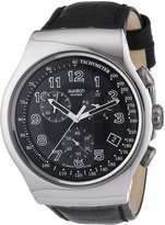 Swatch Men's Irony YOS440 Leather Quartz Watch with Dial